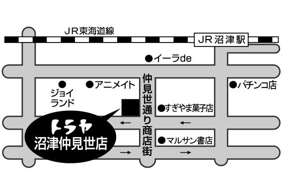 トラヤ沼津仲見世店MAP